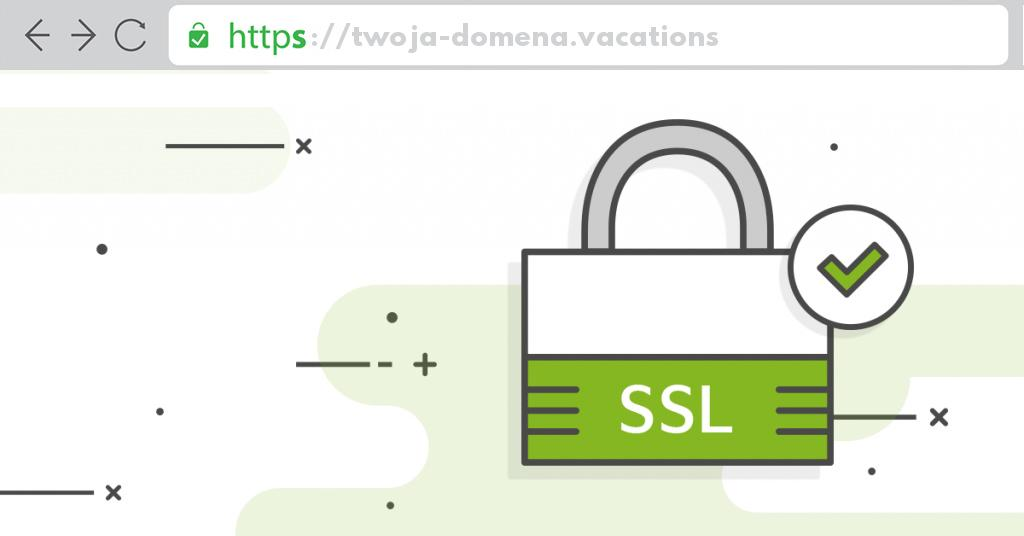 Ssl dla domeny .vacations